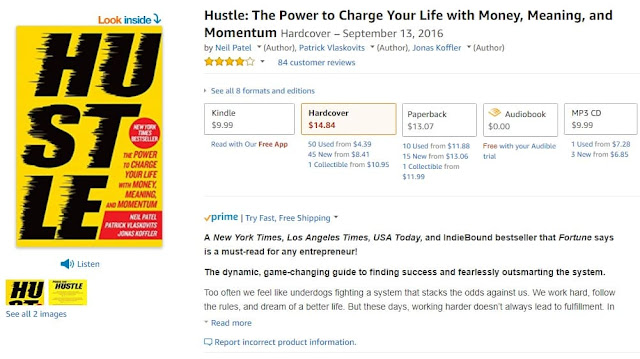 Hustle book neil patel marketer entrepreneur bootstrap business