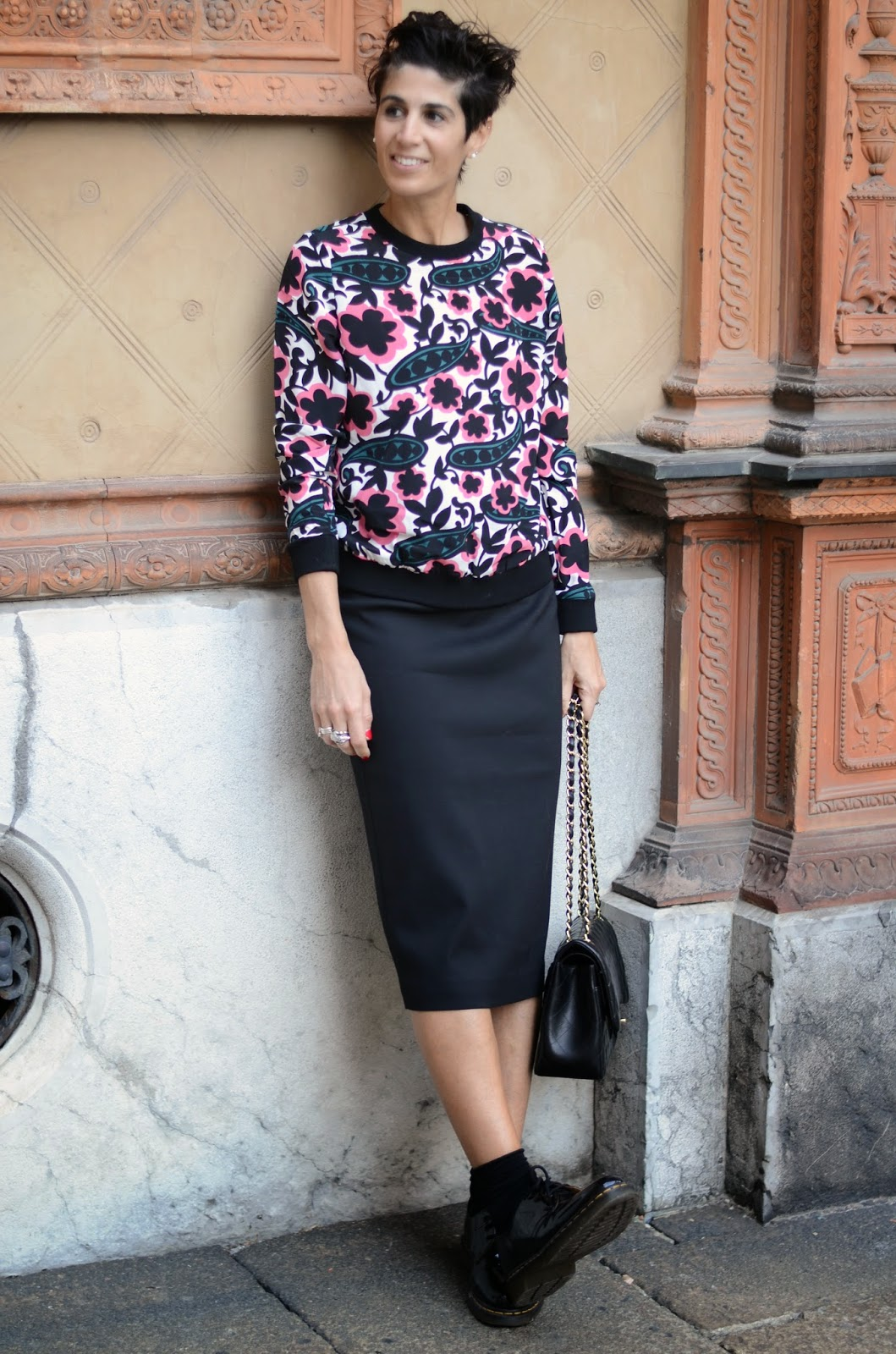 La Troisième: Pencil Skirt And Dr Martens