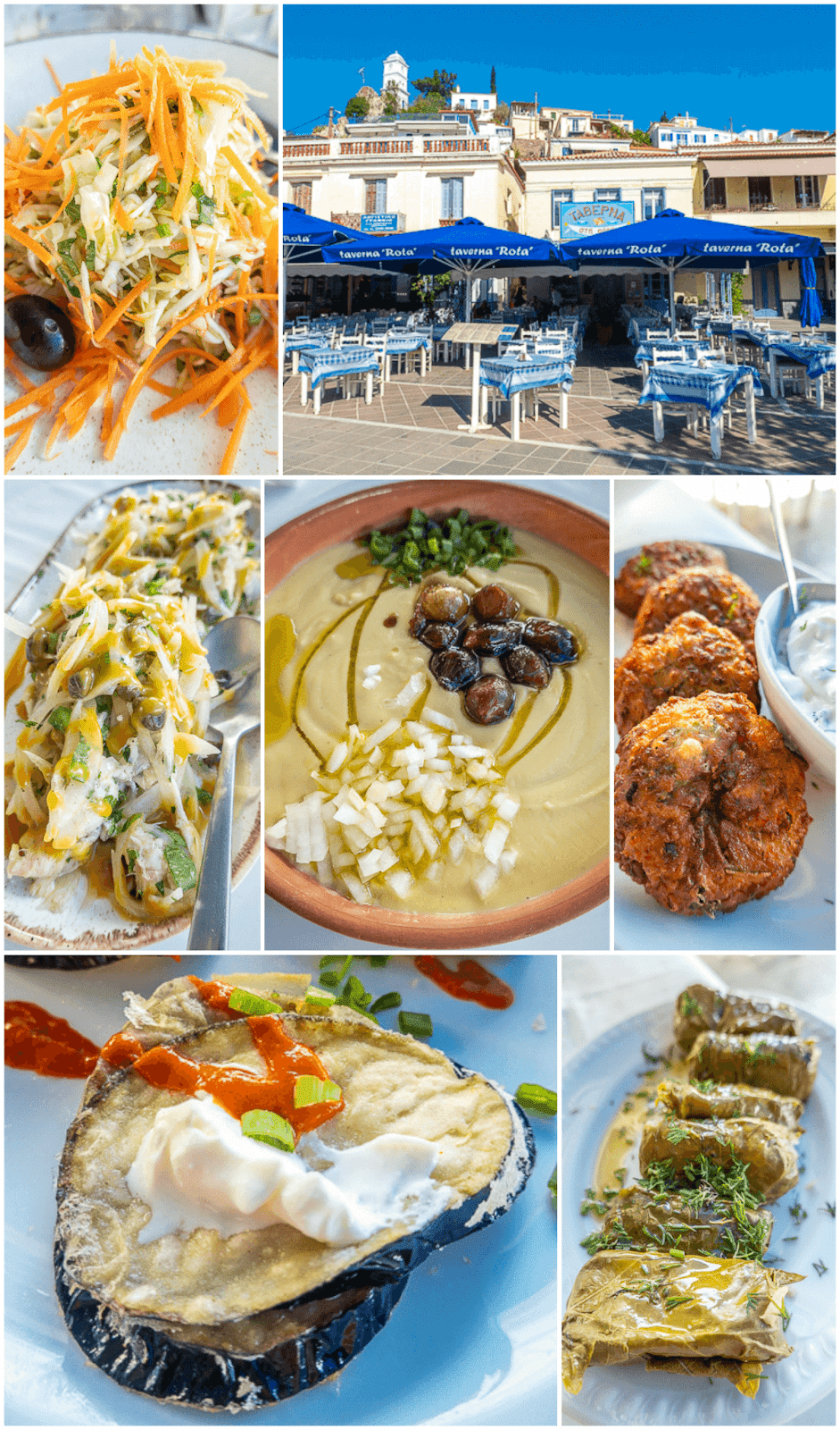 Lunch at Taverna Rota in Poros Greece