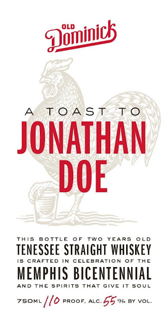 Old Dominick A Toast To Jonathan Doe Tennessee Straight Whiskey For Memphis Bicentennial