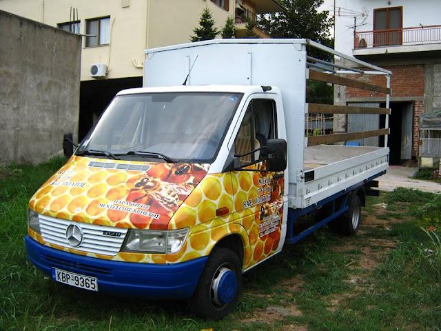 Πωλείται μελισσοκομικό φορτηγό Mersedes sprider 412D