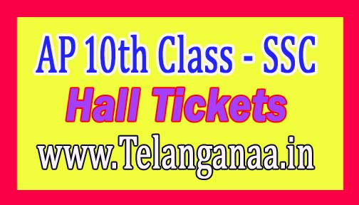Andhra Pradesh SSC Hall Ticket 2017 AP 10th Class Hall Tickets Download