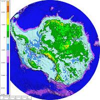 Антарктида без ледената покривка