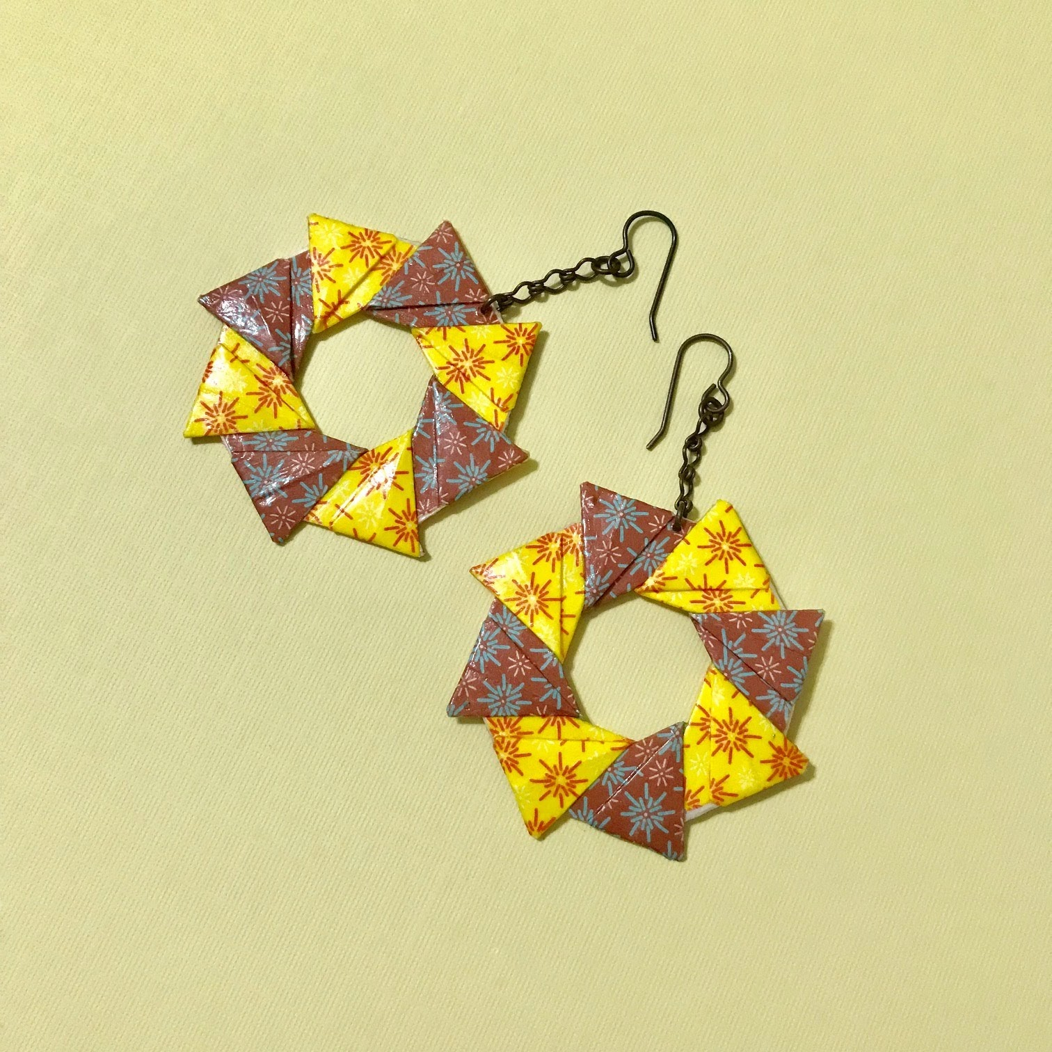 Origami Ring Earrings Tomoko Fuse