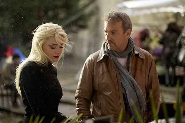 Kevin Costner and Amber Heard