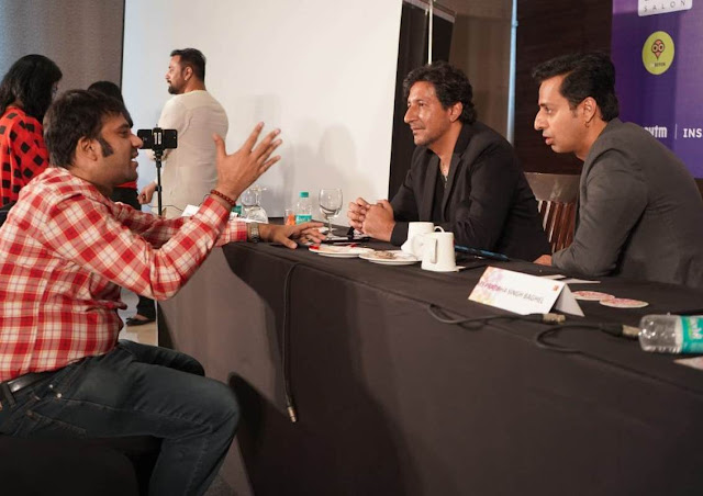 With the famous Bollywood composer duo of Salim-Sulaiman at the trailer launch of Umrao Jaan Ada - The Musical