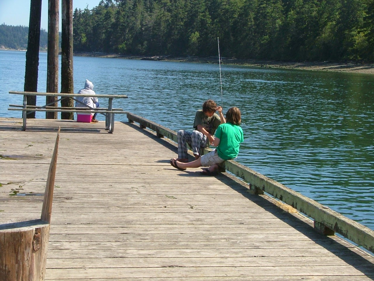 Cornet Bay fishing dock at Deception Pass Park