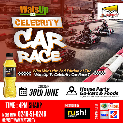 2nd Edition Of WatsUp TV Celebrity Car Race Set For Saturday, 30th June