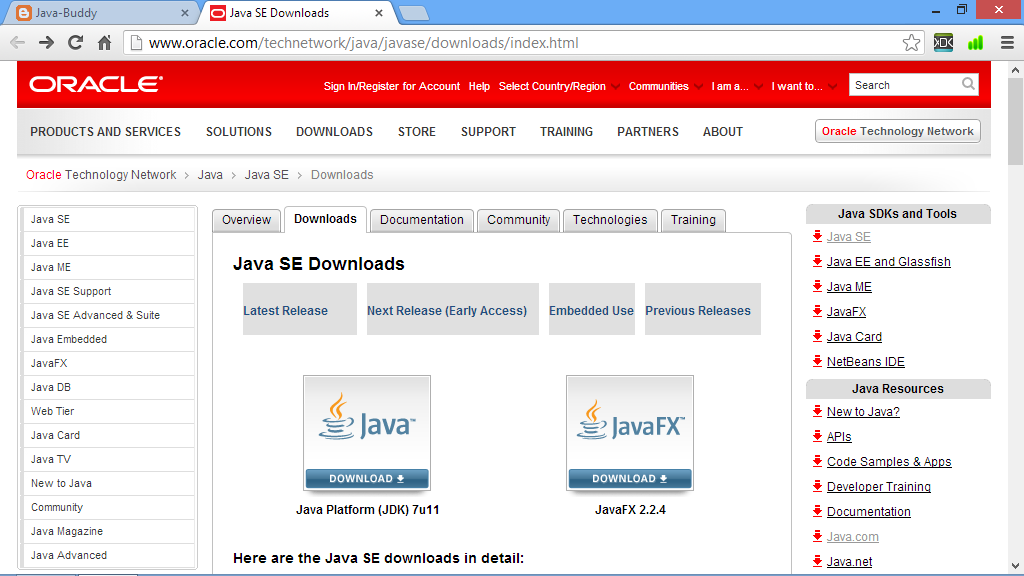 Java SE Development Kit (JDK) - Windows 8 Downloads