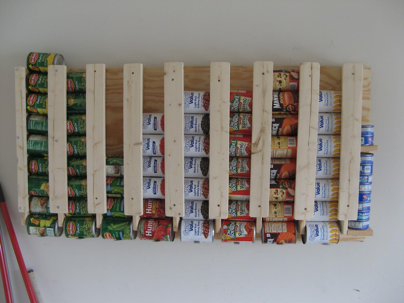 DIY Canned Food Storage Rack | Creative Canned Food Storage Ideas