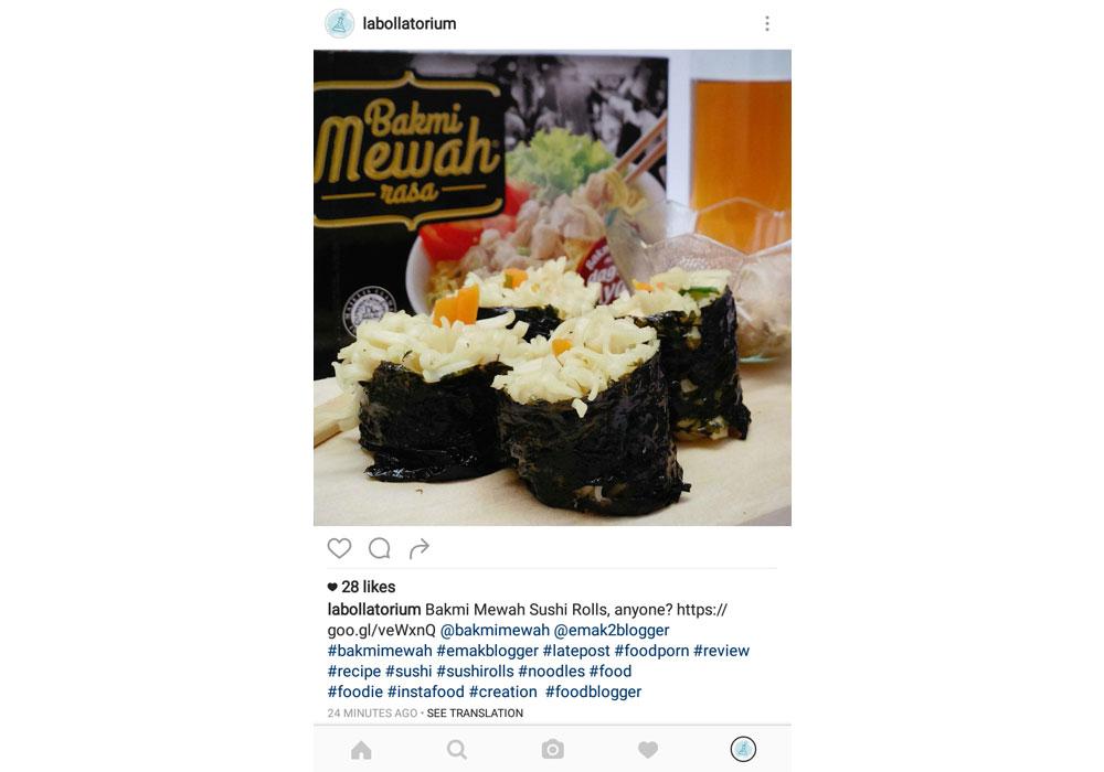 Bakmi Mewah Sushi Rolls untuk Sajian Wah di Rumah