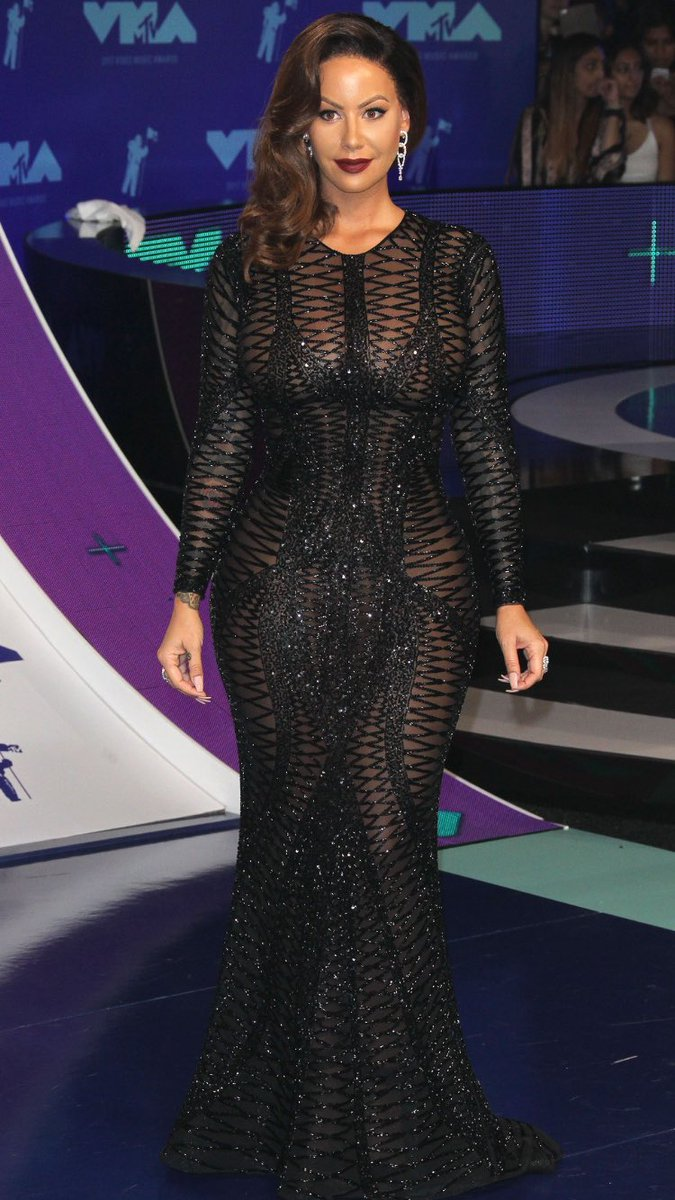 Amber Rose In Spicy Black Dress Latest Photo Gallery