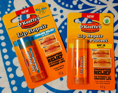 O'Keeffe's Cooling Relief Lip Repair Lip Balm and Unscented Lip Repair and Protect Lip Balm
