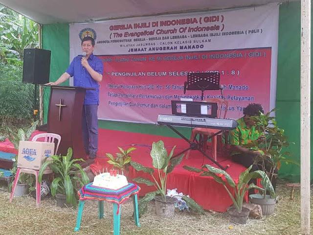 Vicky Lumentut Hadiri Ibadah Syukur Perayaan HUT ke 56 Gereja Injili di Indonesia (GIDI)
