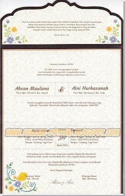 Contoh Undangan Pernikahan Simpel dan Elegan ERBA 88188 Format Cdr