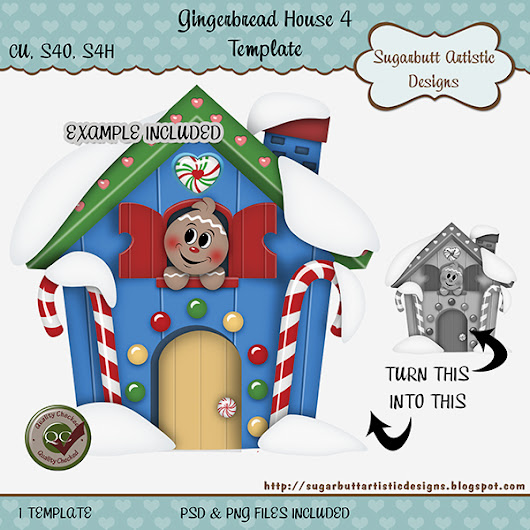 Gingerbread House Template in Stores