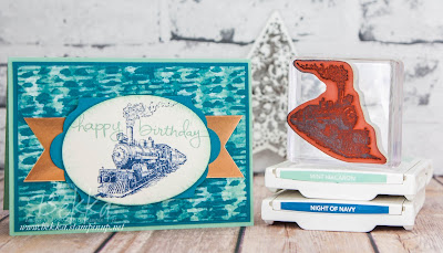 Birthday Card for a Train Lover Made Using Stampin' Up! UK Supplies which you can buy here