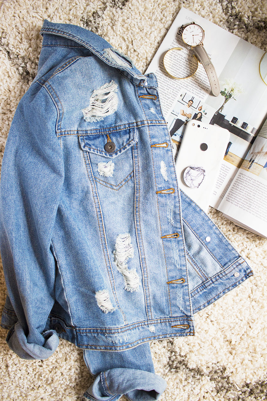 The Perfect Distressed Denim Jacket