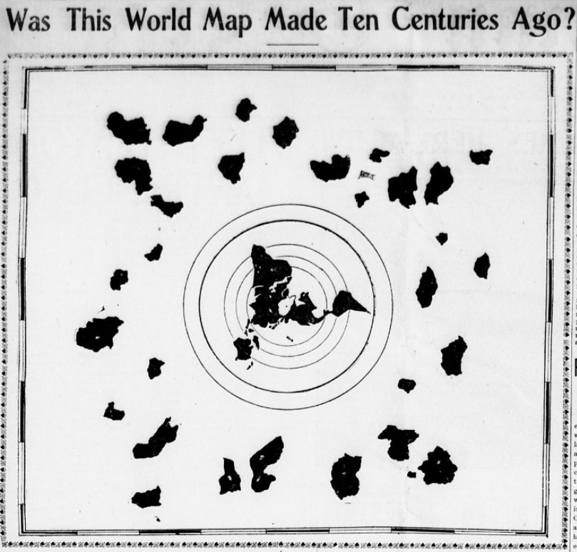 Flat Earth Info (in PLANE sight): Was This World Map Made Ten