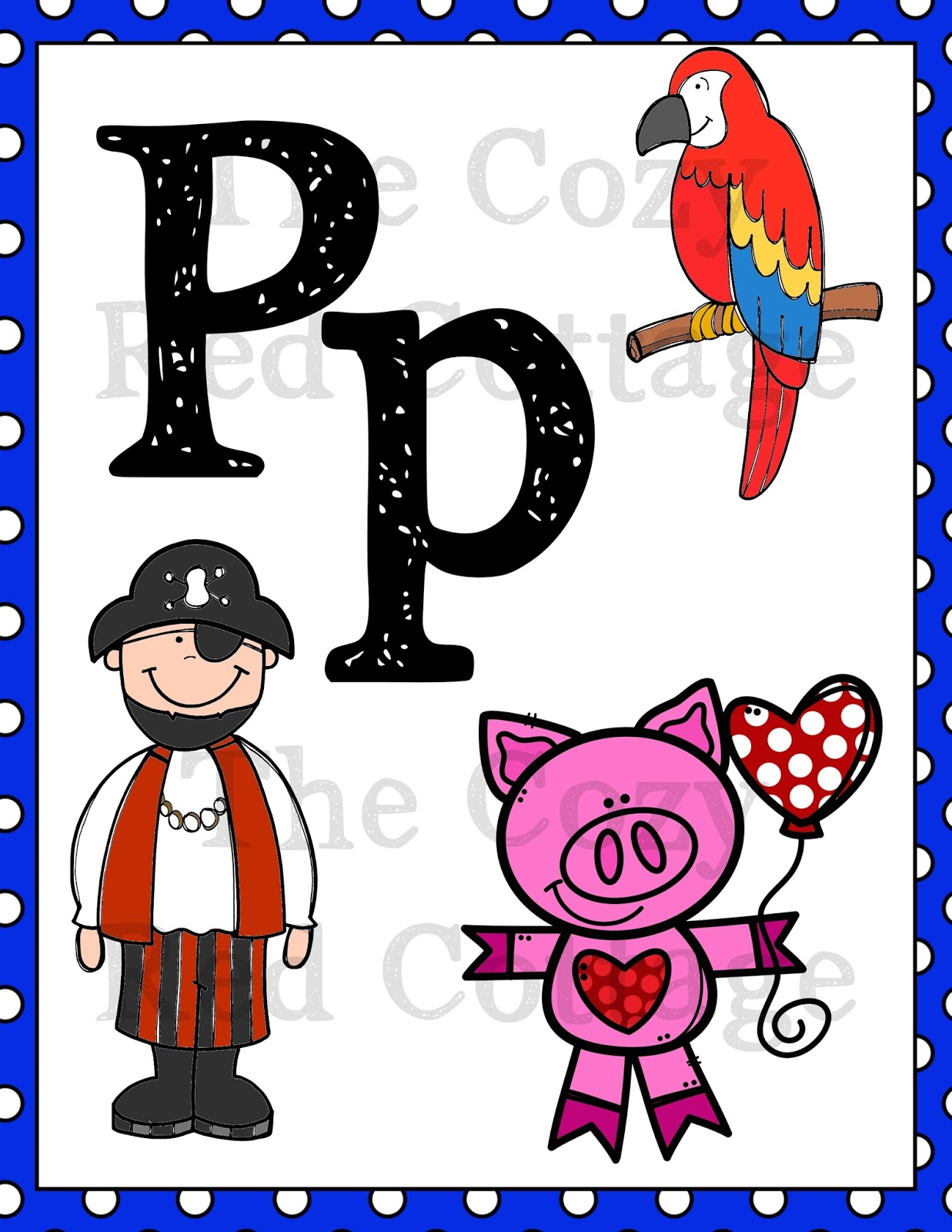 The Cozy Red Cottage Letter P Preschool Mini Pack