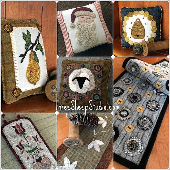 November 15, 2018 Online Show of Handmade Offerings from Rose Clay at ThreeSheepStudio.blogspot.com