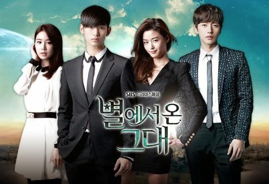 Drama Korea Terbaik dan Terbaru Wajib di Tonton Para Fans YOU WHO CAME FROM THE STARS (2013)