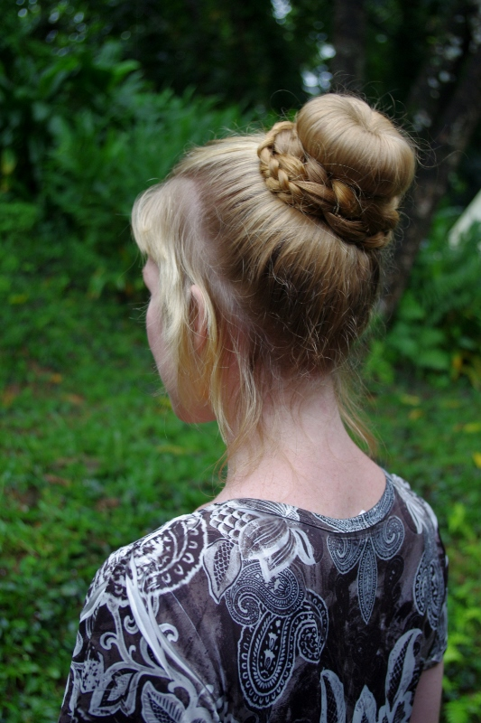 "Braids & Hairstyles for Super Long Hair: High Sock Bun (or ""Cinderella Updo"")"
