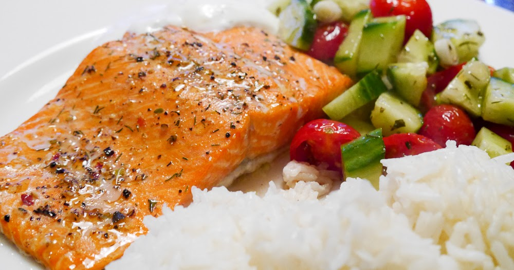 FEAST EVERYDAY: Roasted Salmon with Dill Yogurt Sauce