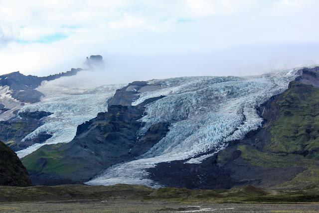 Lengua de glaciar de Islandia