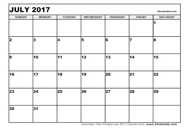 July 2017 Calendar, 2017 Calendar. Calendar 2017, Monthly Calendar 2017