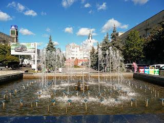 Житомир. Соборная площадь. Фонтан
