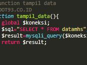 Menampilkan Data di PHP Menggunakan Function