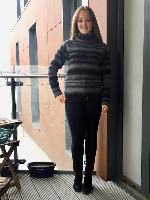 Diary of a Chain Stitcher: Striped Boiled Wool Toaster Sweater from Sew House Seven