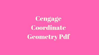 Cengage Coordinate Geometry Pdf