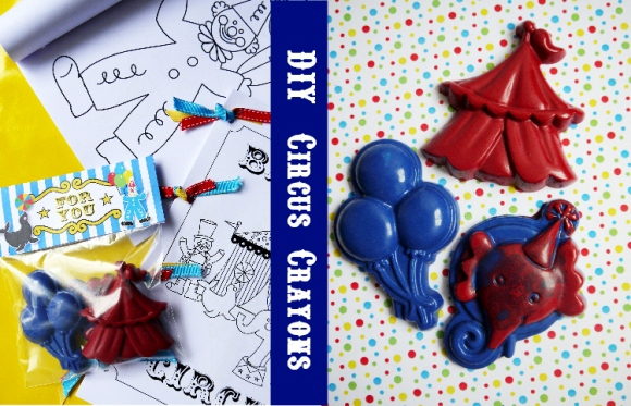 DIY Circus Birthday Crayon Party Favors - BirdsParty.com