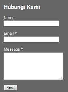 Cara Membuat Contact Form Keren Untuk Blogger Dihalaman Statis
