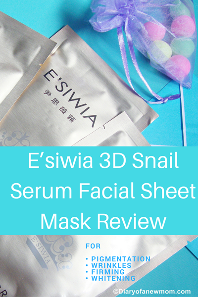 Esiwia 3D Snail Serum Facial Sheet Mask