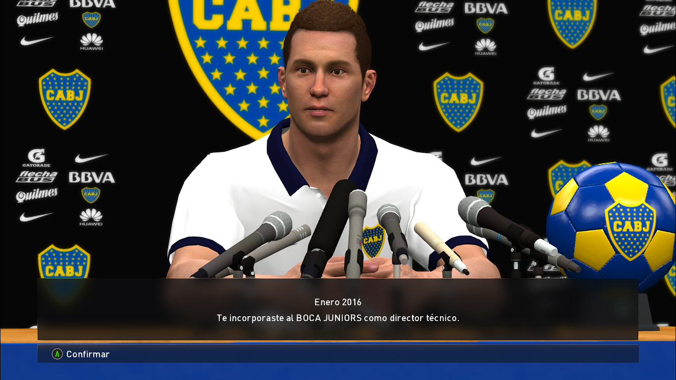 PES 2017 Sponsor Room + Manager kits Boca Juniors by Nahue