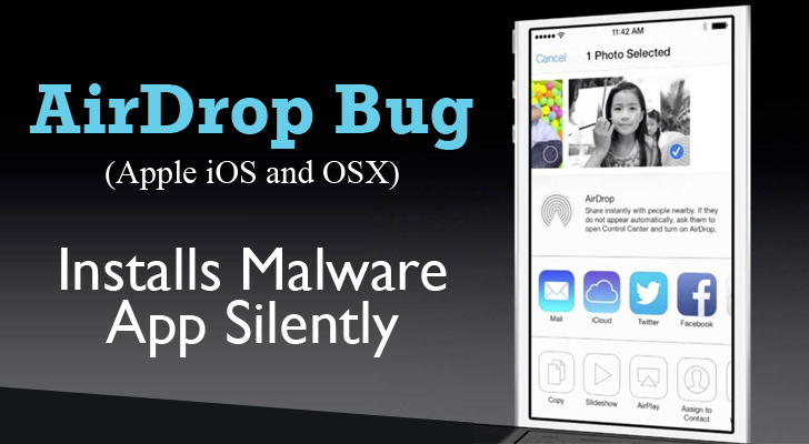AirDrop Bug in Apple iOS and OSX allows Hackers to Install Malware Silently