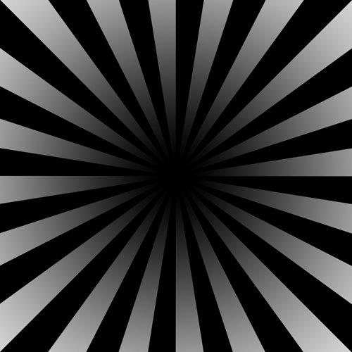 Siyah ve gri renkli yatay şeritlerden oluşan ve sonu karanlık olan siyah tünel