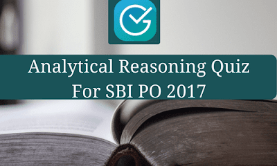 Analytical Reasoning Quiz For SBI PO 2017