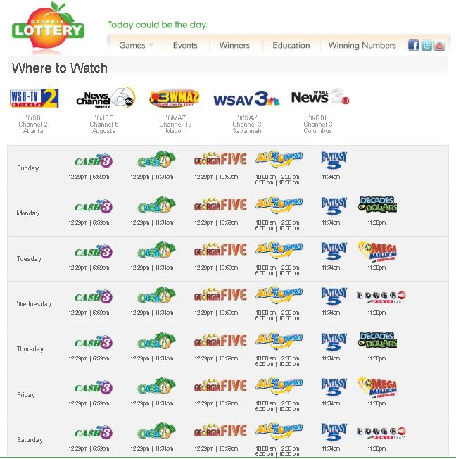 GA Lottery TV | Live Drawings