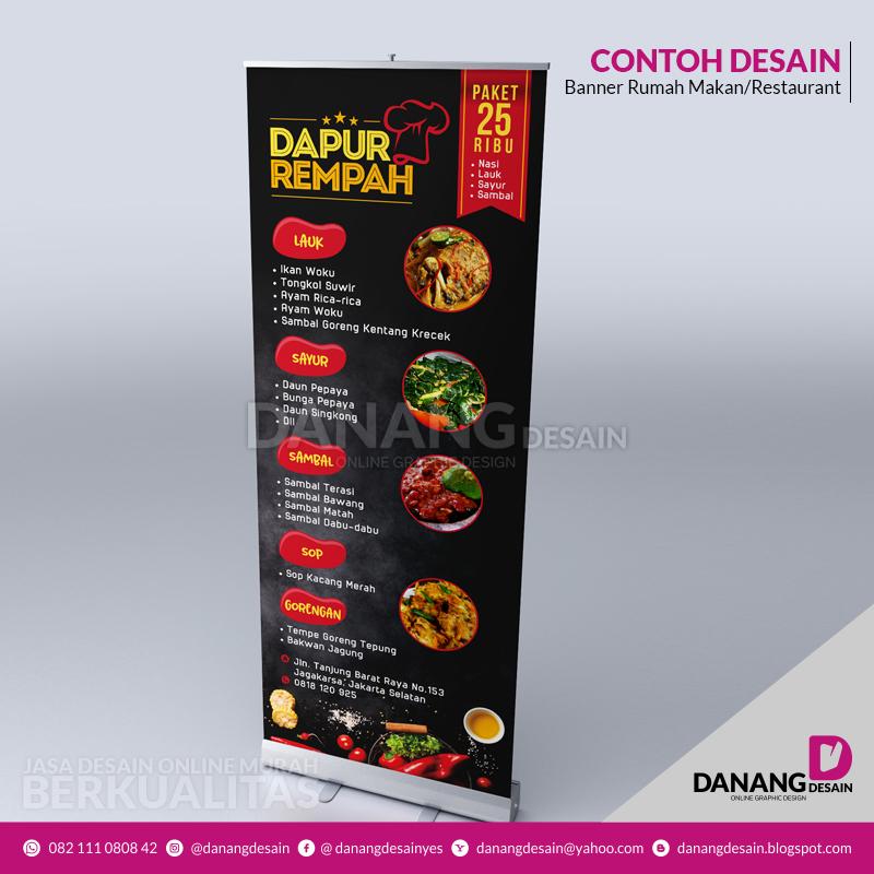 Contoh Desain Spanduk Banner Rumah Makan/Restaurant ...