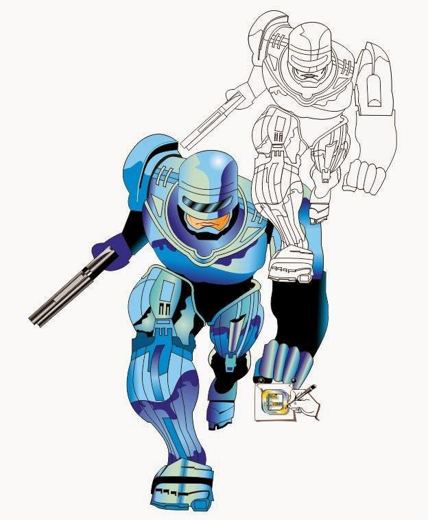 Arterocha Robocop Desenhando