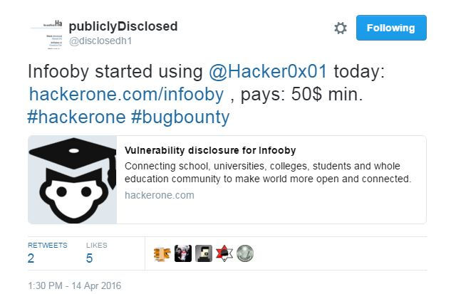 Respect XSS: Gone in Few Hours: Infooby's Fake or Questionable Bug