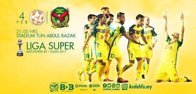 Live Streaming Felda United vs Kedah FA 4 Februari 2017