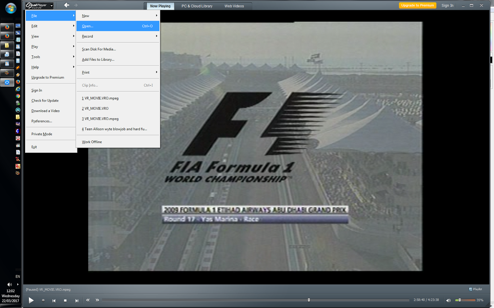 Vro File From Within This Folder And Real Player Will Recognize And Then  Play This File Realplayer Download Free Realplayer Download