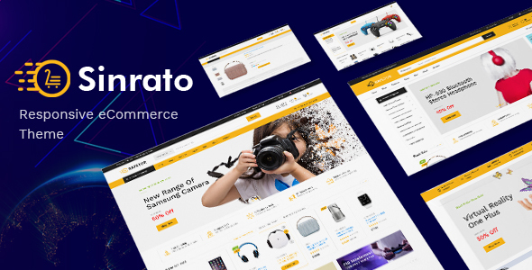 Electronics WooCommerce WordPress topic Sinrato - Electronics Theme for WooCommerce WordPress