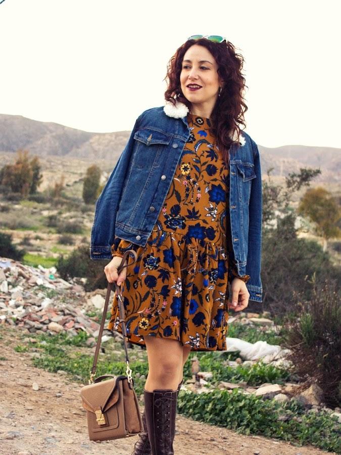 melange_boutique_fashion_blog_de_moda_zaful_dresslily_como_combinar_vestido_ocre_mostaza_gorro_orejas_de_gato_tendencia_romantica_volantes