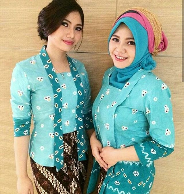 Model Dress Batik Jumputan Gamis Brokat